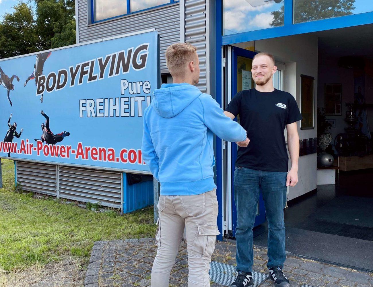 Freundlicher-Service-Besucher-Gutschein-Für-Bodyflying-Beginner-Anfänger-air-power-arena-hückelhoven